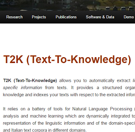 T2K: Text-To-Knowledge